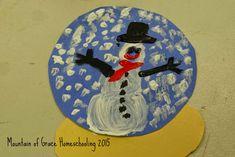 Mountain of Grace Homeschooling: Winter Art Fun