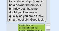 The Worst Text Rejections. Ouch.