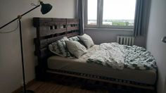 #pallet #bed #palisander #DIY #wood #palletbed