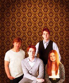 Ron, George, Fred  Ginny Weasley