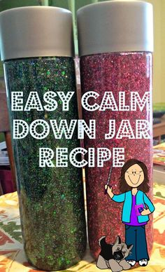 Mskcpotter: Calm Down Jar Recipe (Sensory bottle) Calming Bottle, Calming Jar, Sensory Activities, Toddler Activities, Sensory Play, Toddler Fun, Sensory Rooms, Sensory Bags, Sensory Diet
