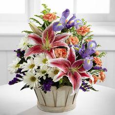 Bouquet di gigli margherite iris garofani