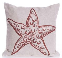 Caryko Home Decor Cotton Linen Square Throw Pillow Case Cushion Cover (Starfish-Red) Caryko http://www.amazon.com/dp/B00YV21C2I/ref=cm_sw_r_pi_dp_bVhCvb00TTQN8