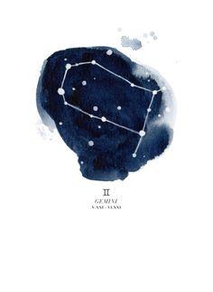 Zodiac Constellation - Gemini Art Print