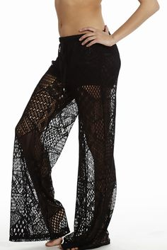 a14ac2e5f4 These are great for the Beach Wide Leg Crochet Pants | Home Goods Galore  Crochet Pants