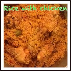Rice with chicken (Arroz con pollo) Puerto Rican Recipes, Spanish, Rice, Homemade, Meat, Chicken, Food, Arroz Con Pollo, Home Made