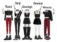 """""""Red Velvet's Bad Boy Performance Outfit"""" by hren on Polyvore featuring AlexaChung, Staud, GCDS, H&M, Free People, Jimmy Choo, Puma, Alexandre Vauthier, Yves Saint Laurent and Alice + Olivia"""