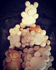 Bear salt dough ornaments. An awesome Christmas craft idea for kids, especially future Baylor Bears!