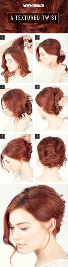 Hair How-To: A Textured TwistBecause nothing says sexy like a messy updo.