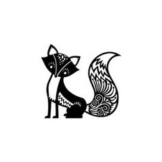Cute fox rubber stamp small by terbearco on Etsy