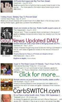 ♥ Gout Diet Gout Diet Recipes treatment cures remedies menu ♥ targeted low carb or no carb Recipes, Infographics & DAILY nutritional science news updates to help you or a loved one ♥ #carbswitch carbswitch.com Please Repin ►♥◄ Health News: Diets Food Updated DAILY - Diets for Women: Best Diet Plan Best Diet Foods
