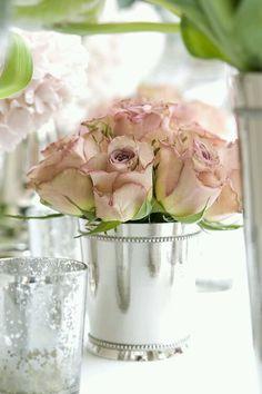 Wedding diy ROSE IN SILVER POTJIES