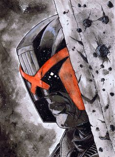 Bumping up some great 2000 AD material - Judge Dredd Comic Art