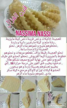 Arabic Dessert, Arabic Sweets, Arabic Food, Sweet Recipes, Cake Recipes, Dessert Recipes, Moroccan Desserts, Tunisian Food, Food Humor