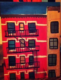 I am starting to do New York on wood. Inspired by Chelsea architecture