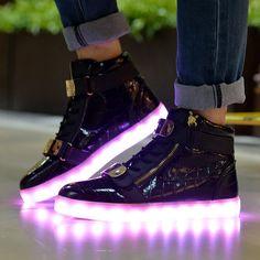 Topteck LED Luz Luminosos Light Up Flashing Sneakers Zapatos Deportivos de la Zapatillas de Deporte: Amazon.com.mx: Deportes y Aire Libre