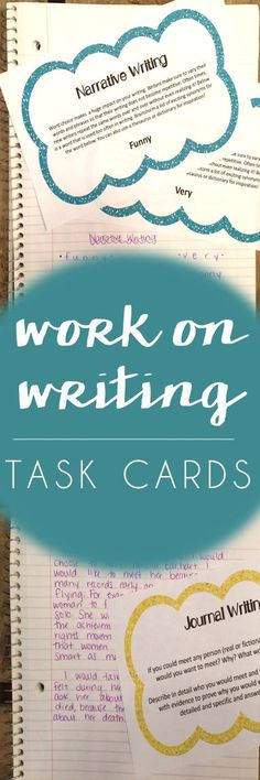 work on writing task