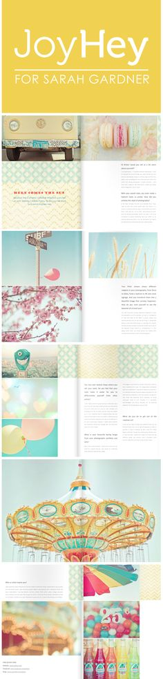 JoyHey For Sarah Gardner Beyond the Camera / Amazing spring magazine out now!