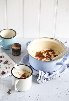 Milchreis aus dem Backofen mit salz karamell sauce oven rice pudding with salted caramel recipe rezept Zuckerzimtundliebe Foodblog