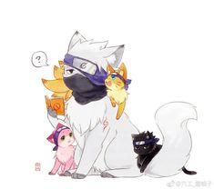 it's soo kawaii Anime Naruto, Naruto Comic, Naruto Fan Art, Naruto Cute, Naruto Shippuden Sasuke, Naruto Sasuke Sakura, Boruto, Kakashi Hatake, Naruto Team 7