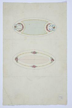 Gustav Gaudernack design. Watercolor of box (?) and brooch in sikver and enamel. 1905-1910 Tegning @ DigitaltMuseum.no