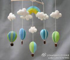 συννεφάκια, ουράνιο τόξο και αερόστατα