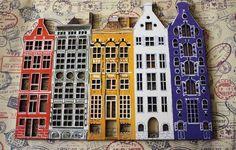 Купить Панно Амстердам, фанера, роспись вручную - комбинированный, панно на стену, городской пейзаж: