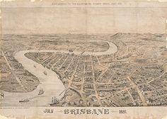 Vintage Maps, Vintage Posters, Dark Stories, Brisbane Queensland, The Old Days, City Maps, Zine, Old Photos, Poster Prints