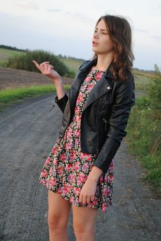 Biker jacket with your summer dress