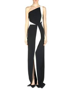 B2XR3 Roland Mouret Lilyvick Double Crepe One-Shoulder Gown