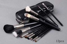 12 pcs makeup brush set full size with faux leather case  MAC: http://www.amazon.com/makeup-brush-full-size-leather/dp/B005IGXJTA/?tag=httpbetteraff-20
