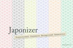 Japonizer, a traditional seamless background generator, is pretty damn cool and easy to use. Choose a pattern, choose your colors, choose a size, JAPONIZE and then download your custom background tile. Pretty neat, no? :)