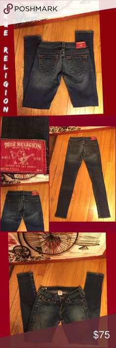 """SZ 25-TRUE RELIGION SUPER SKINNY """" STELLA"""" JEANS TRUE RELIGION'S MIST POPULAR JEANS. SZ 25 TRUE RELIGION SUPER SKINNY """"STELLA"""" JEANS. LIKE NEW/NO WEAR TO NOTE. RETAIL $299. STRETCH: 99% COTTON/ 1% ELASTANE. LEG OPENING 5"""" FLAT. 30"""" INSEAM; VERY LOW 6.5"""" RISE. MEASUREMENTS LYING FLAT: 13"""" WAIST; 16.25"""" HIPS. PLEASE FEEL FREE TO ASK ANY QUESTIONS! #classic #truereligion #stella #superskinny #jeans True Religion Jeans Skinny"""