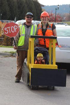 Bulldozer Stroller. Toddler Costume. Gould 2014 Halloween