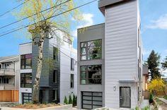 Carr Pl, Fremont. #Seattle, WA. #Modern exterior. Designed by Build Urban.