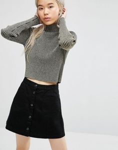 Weekday Crop Polo Top