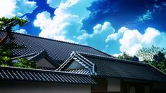 Anime Scenery, Clouds, Mansions, House Styles, Outdoor, Home Decor, Scenery, Mansion Houses, Outdoors