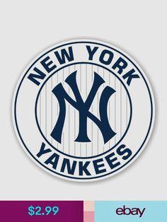 New York Yankees Statement Stickers & Decals Sports Mem, Cards & Fan Shop Yankees Logo, New York Yankees Baseball, Ny Yankees, Baseball Teams, Stencil Art, Stencils, Ebay Sports, Darwin, Cricut Design