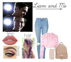"""""""Liam and Me"""" by hayhai ❤ liked on Polyvore featuring Topshop, Moschino, Lime Crime and MICHAEL Michael Kors"""