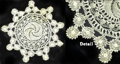 2000 year old needlelace technique. -- Bebilla or Armenian Knotted Lace,   Made in Cyprus,Turkey and Greek Islands   Knotted lace is know under a variety of names including Dandella, Armenian lace, and Nazareth lace.