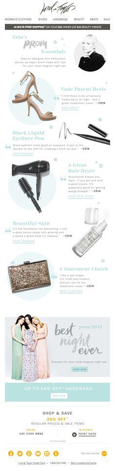 Lord & Taylor Prom essentials