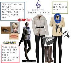 """Resident Evil 6: Sherry Birkin"" by gamerbabe91 on Polyvore"