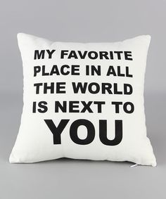 Another great find on #zulily! 'Favorite Place' Linen Throw Pillow #zulilyfinds