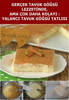 Yalancı Tavuk Göğsü Tatlısı With its real chicken breast flavor, it is an easy to make, practical dessert that lovers of milk dessert will love … Christmas Desserts Easy, Easy Desserts, Dessert Recipes, Breakfast Recipes, Dinner For One, Dessert For Dinner, Coconut Peanut Butter, Christmas Breakfast, Fries In The Oven
