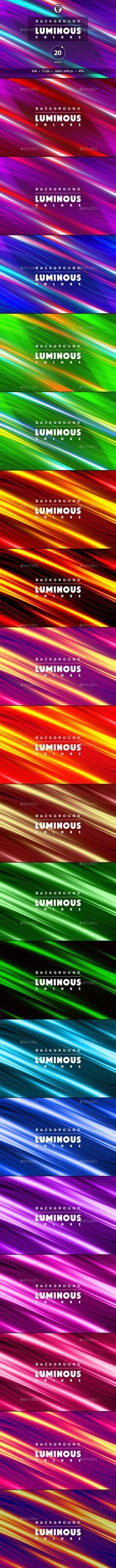 Background luminous colors 20 pieces by Desst 20 Backgrounds abstract luminous colors. Fly luminous colors backgrounds. 20 pieces in set. Jpeg 30002000px. Palette RGB. Thank!