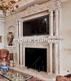 ... about Fireplaces on Pinterest  Marble Fireplaces, Marbles and Mantels