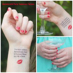 Bachelorette Tattoos - Bachelorette Party Temporary Tattoos - If I'm Lost, Please Buy Me A Drink