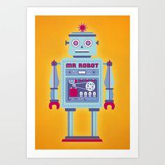 Mr Robot Art Print by Ted Takeshi Doré - $14.56