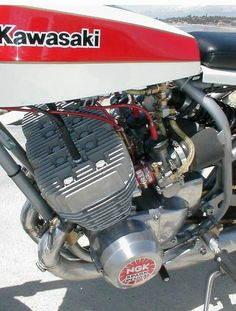 Kawasaki Flat Tracker, I can hear it on the picture