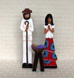 Latin America Nativities>Venezuela>Llanero Holy Family